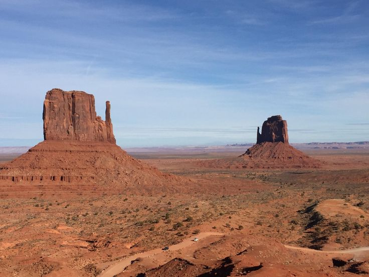 The Mittens in Navajo Nation's Monument Valley USA [OC] [3264x2448]