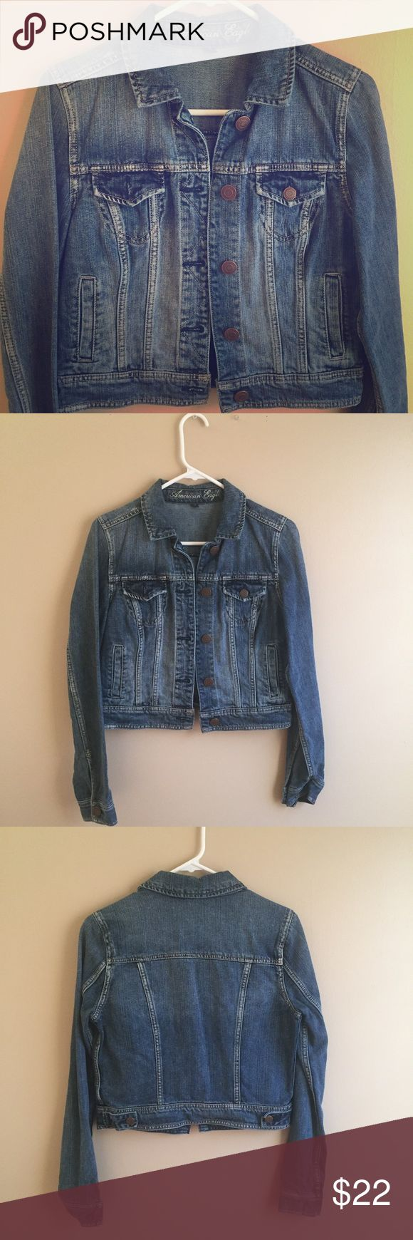 ⚡️SALE⚡️American Eagle Jean Jacket American Eagle Jean Jacket, excellent condition, worn less than a handful of times American Eagle Outfitters Jackets & Coats Jean Jackets