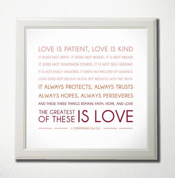 Wedding Reading Love Is Patient: 1 Corinthians 13:4-8