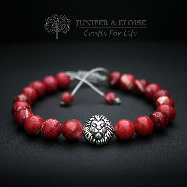 Lion Bracelet For Men, 925 Silver Lion Charm, Armband, Pulsera, Christmas Gift, Valentines Day Gift by JuniperandEloise on Etsy