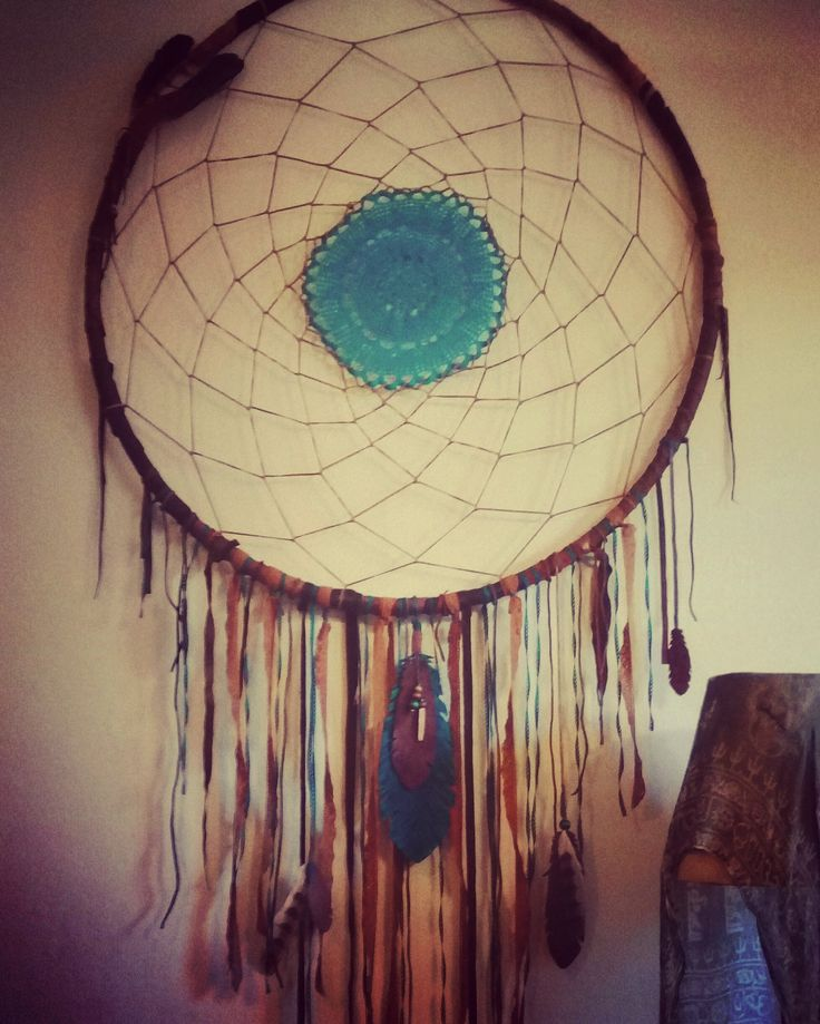 Indiflo Leather Creations giant dream catcher