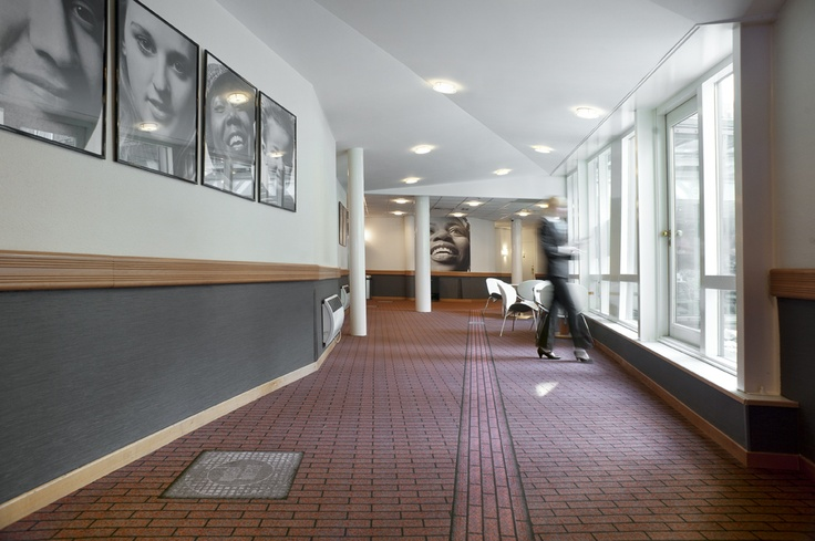 Designer corridor carpet resembles typical Amsterdam streets at Inntel Hotels Amsterdam Centre