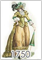 La moda femminile dal 1750 al 1789, dai grandi pouf e i ricchi abiti di corte di Maria Antonietta alla sobria moda inglese di fine secolo