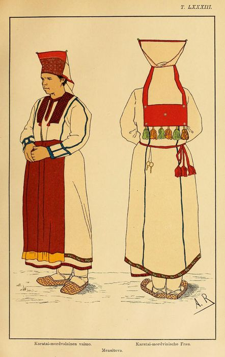 мордовский костюм женский картинки рисунок крафта