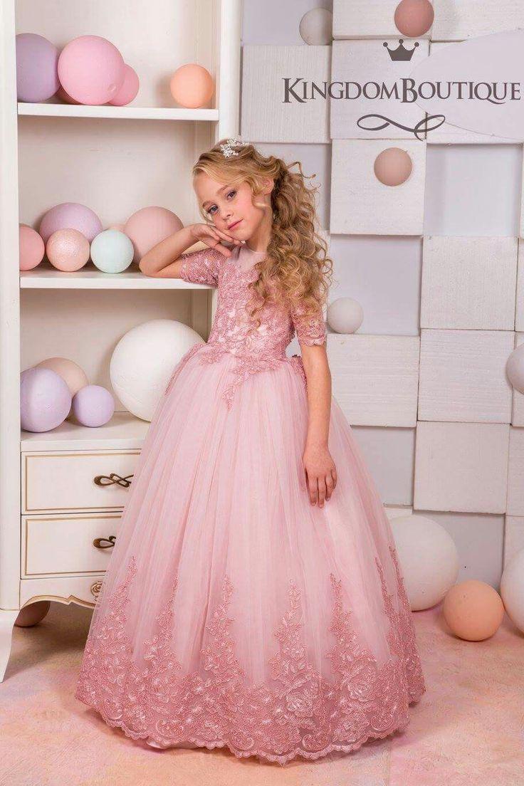 16 best vestidos de niña images on Pinterest | Little girl outfits ...