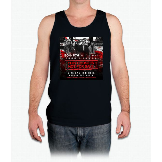 BON JOVI - PRESENT TOUR DATE 2017 - THIS HOUSE IS NOT FOR SALE - Mens Tank Top