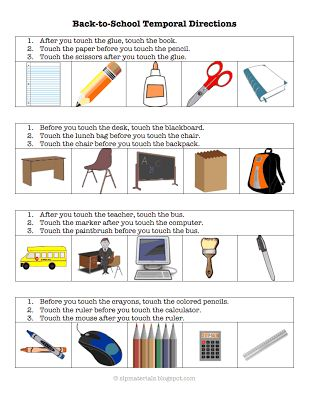 17 best images about speech therapy back to school on pinterest speech and language school. Black Bedroom Furniture Sets. Home Design Ideas