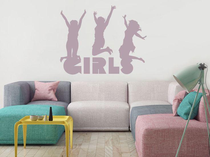 Superb Wandtattoo mit fr hlichen Girls f rs Jugendzimmer