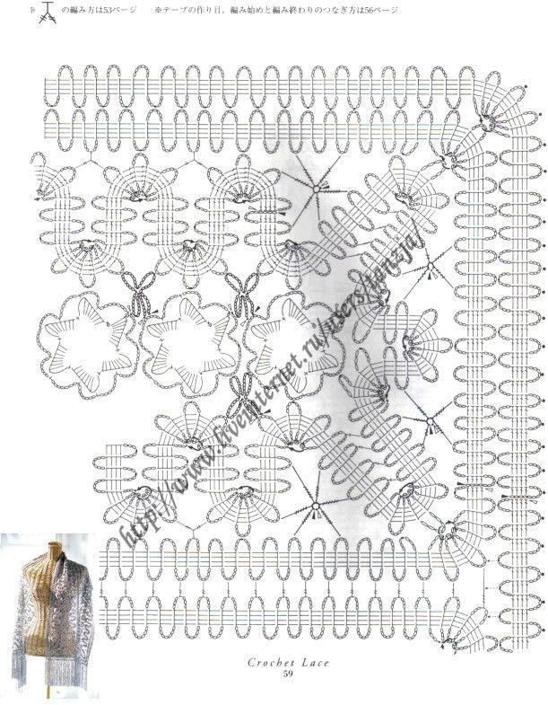 Bruges lace shawl pattern