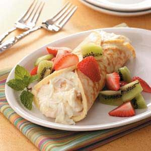 Fruity Dessert Crepe Recipe!Delicous food that will leave you smiling. ;D
