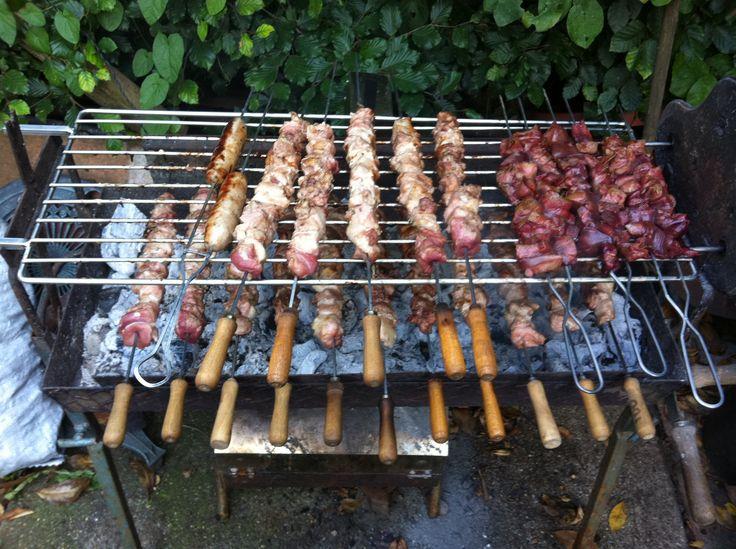 Cyprus style bbq souvlaki grill #bbq #souvlaki