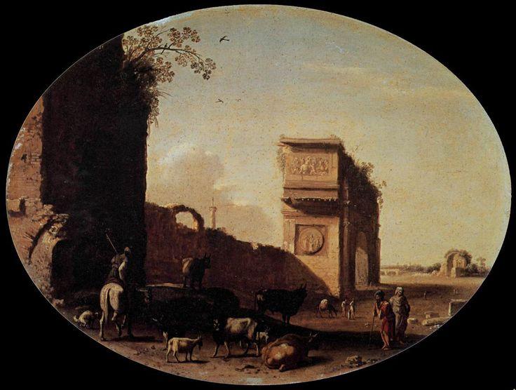 Roman Ruins by Cornelis Van Poelenburgh