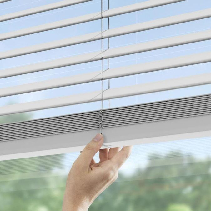 Levolor Trim Go 2 In Cordless White Faux Wood Room Darkening Blinds Common 47 In Actual 46 5 In X 64 In In The Blinds Department At Lowes Com In 2020