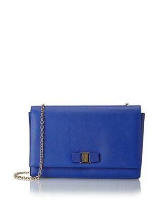 -92,800% OFF Salvatore Ferragamo Women's Textured Crossbody, Blue