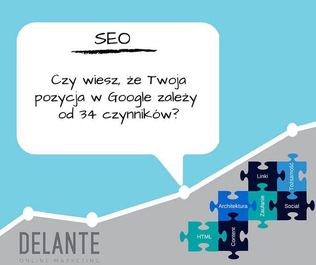 Pozycjonowanie stron jest zależne od bardzo wielu czynników | http://delante.pl