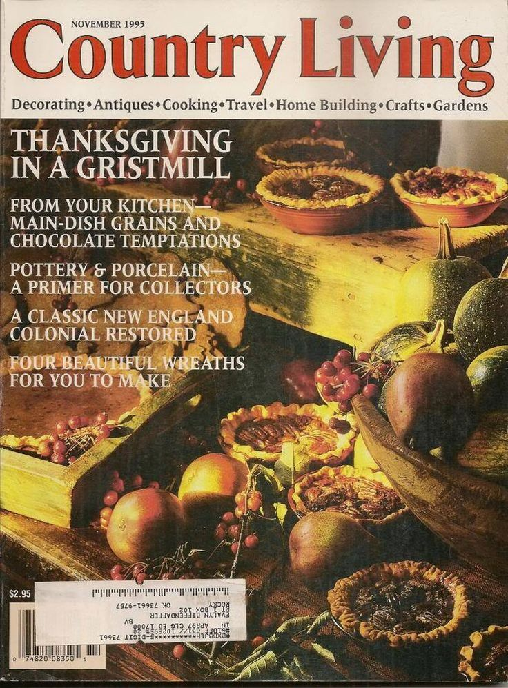 109 best thanksgiving magazines images on pinterest for Country living magazine recipes