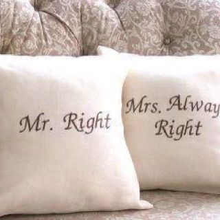 Love these...Pillows Covers, Happy Wife, Wedding Gift, Anniversaries Gift, Mrmrs, Gift Ideas, So True, House, Throw Pillows