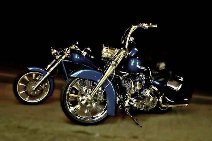 Honda fury y Harley Road King | Cool Stuff | Pinterest ...