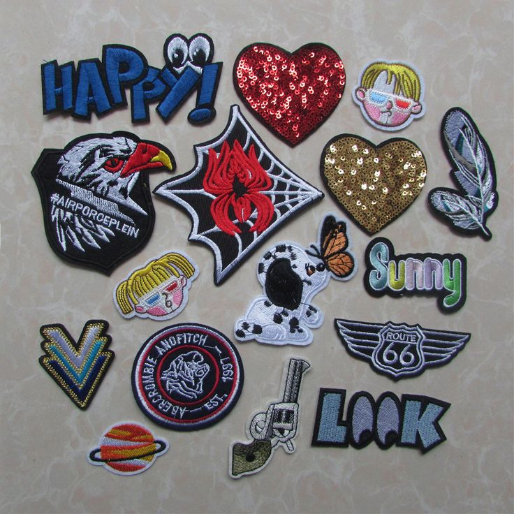 16 kind style cartoon patches stripes hot melt adhesive applique embroidery patch DIY clothing accessory patch C352-C356. Yesterday's price: US $0.08 (0.07 EUR). Today's price: US $0.08 (0.07 EUR). Discount: 23%.
