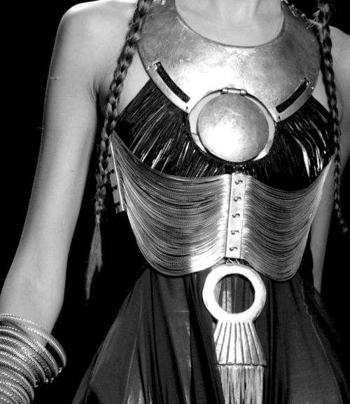 jean paul gaultier spring 2010. metal breast plate