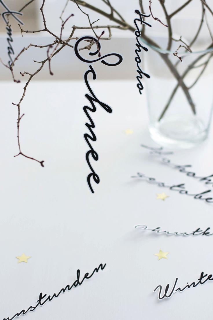 [Kreativ-Adventskalender:Türchen #5] Weihnachtliche Schriftzüge | s i n n e n r a u s c h
