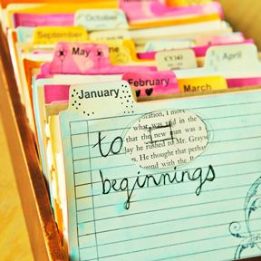 Place to keep memories ~ once the year has come & gone, you can easily transfer the ephemera from each month into a scrapbook & then begin another fresh ephemera drawer for the New Year.