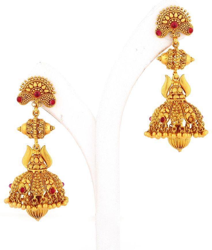 Designer Indian Earrings: 86 Best Love Of Gold (Earrings) Images On Pinterest