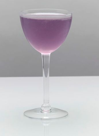 Aviation Cocktail: In a cocktail shaker three-fourths full of ice, combine 2 ounces gin, 1/2 ounce lemon juice, 1/2 ounce maraschino liqueur, and 1/4 ounce crème de violette liqueur. Shake well and strain into a cocktail glass.