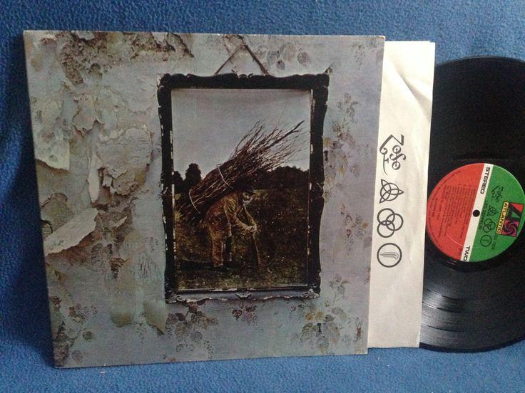 Rare Vintage Led Zeppelin Quot Iv Zoso Quot Vinyl Lp Record Album Mid 70 S Press Stairway To