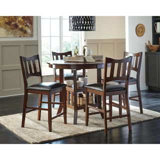 Shop for Signature Design by Ashley Renaburg Brown Upholstered Barstool and Counter Table (Set of 4). Get free shipping at Overstock.com - Your Online Furniture Outlet Store! Get 5% in rewards with Club O! - 19005885