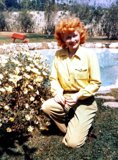 Lucille at the Desilu Ranch in Chatsworth, California,