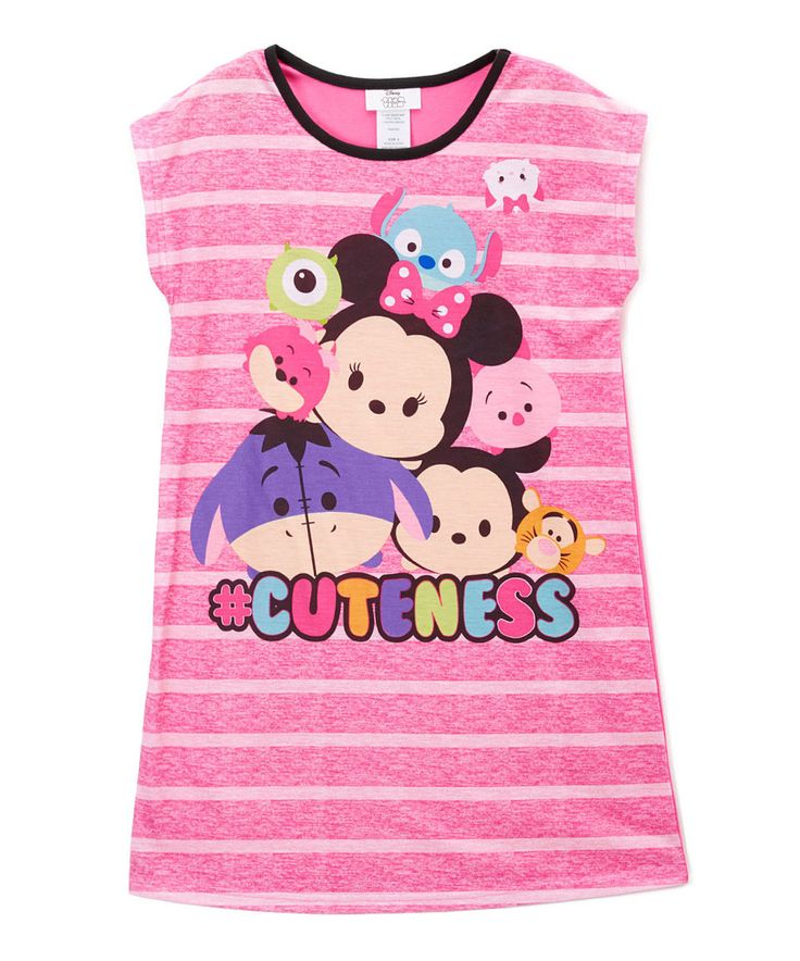 Take a look at this Disney Tsum Tsum Pink 'Cuteness' Nightgown - Girls today!