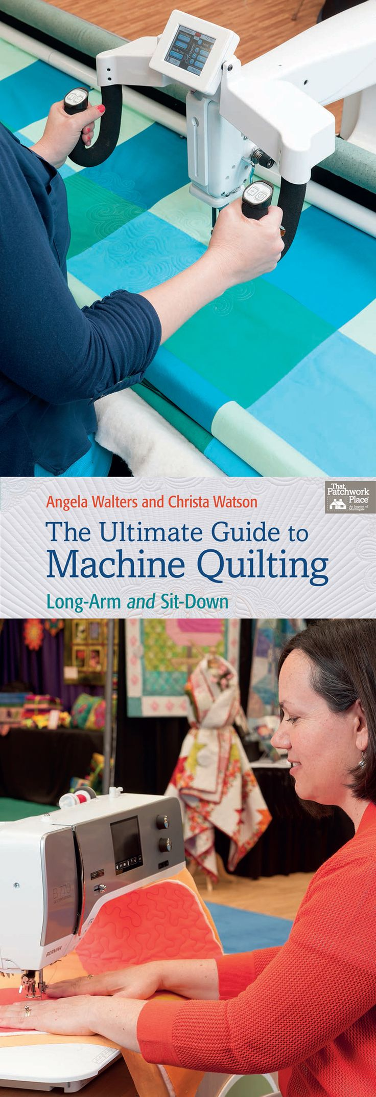 Get ready for a whole new world of machine-quilting freedom! Two machine-quilting masters have come together, each to share her unique experience and expertise, in The Ultimate Guide to Machine Quilting - Angela Walters on the long-arm, Christa Watson on the home sewing machine. Ideas, techniques, advice, projects—they've got you covered in a resource that will last as long as you quilt.