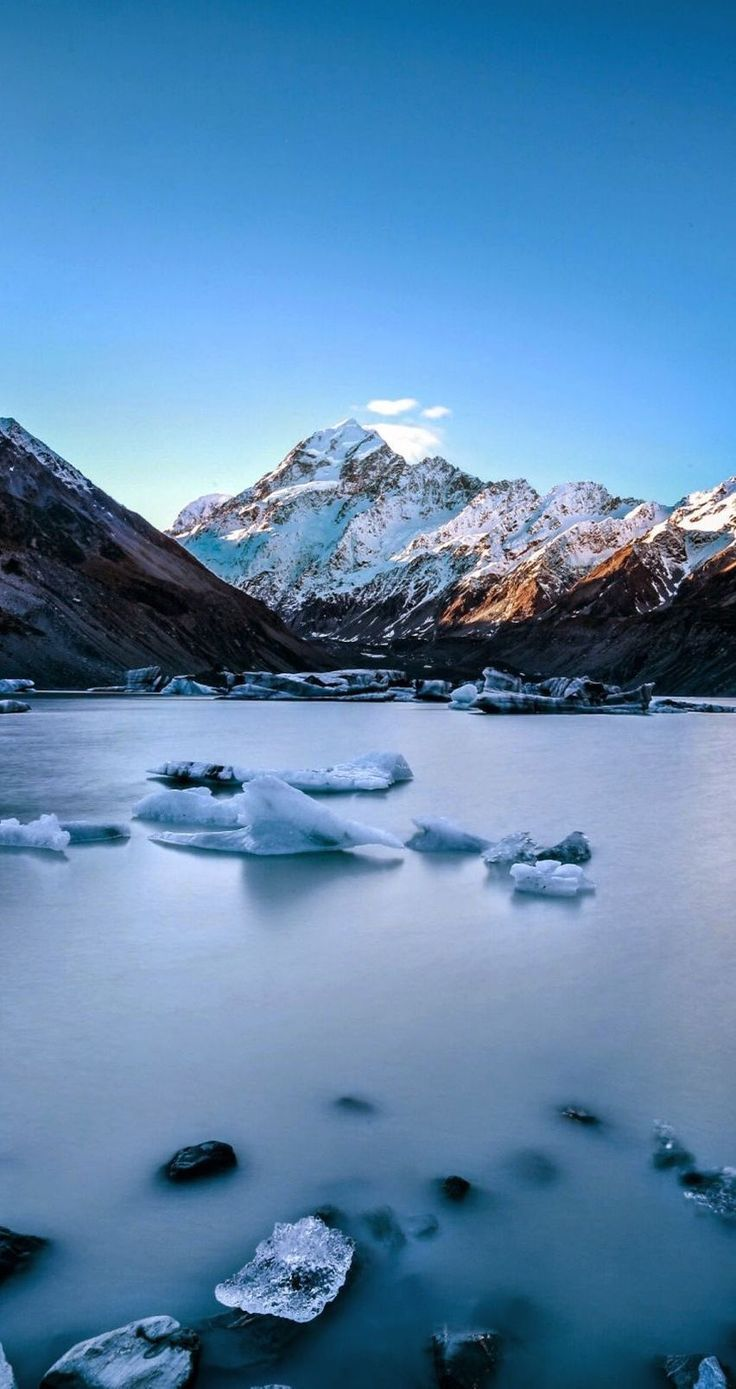 Ice lake. 9 Amazing and beautiful Snowy and Ice Lake Scenery Wallpapers. - @mobile9 | Wallpapers for iPhone 5/5S, iPhone 6 & 6 Plus #scenery #landscapes