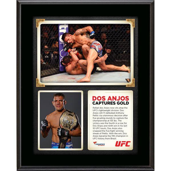 Rafael Dos Anjos Ultimate Fighting Championship Fanatics Authentic 10.5'' x 13'' UFC 185 New Lightweight Champion Sublimated Plaque - $29.99