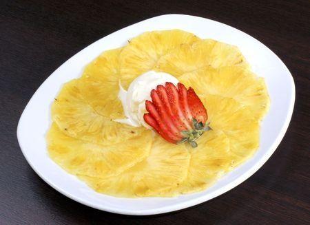 #recette du carpaccio d'ananas aux épices (curcuma) !