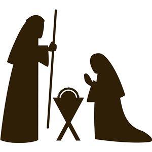 Silhouette Design Store - View Design #23554: 3-pc nativity