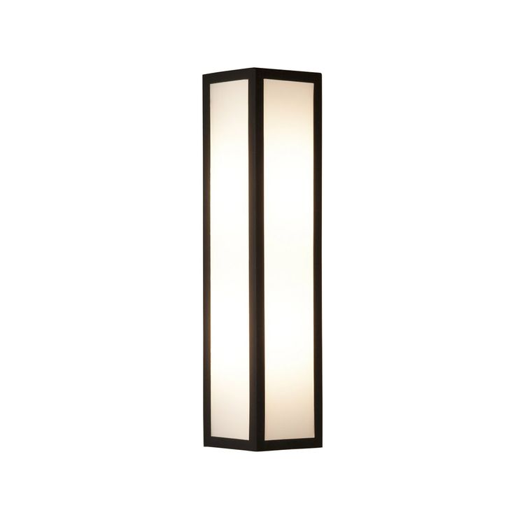 Salerno Black Outdoor Wall Light