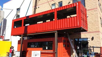 Shipping Container Homes: 2 x Shipping Containers, - The Container Restaurant, - Durango, Colorado, http://containerhomeblog.com
