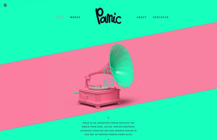 Panic - Website of the Day - 11 June 2015 http://www.csswinner.com/details/panic/9369