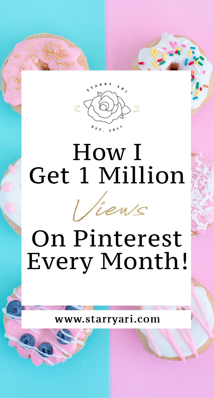 Read this post to learn how i get over 1 million views on Pinterest every single month!