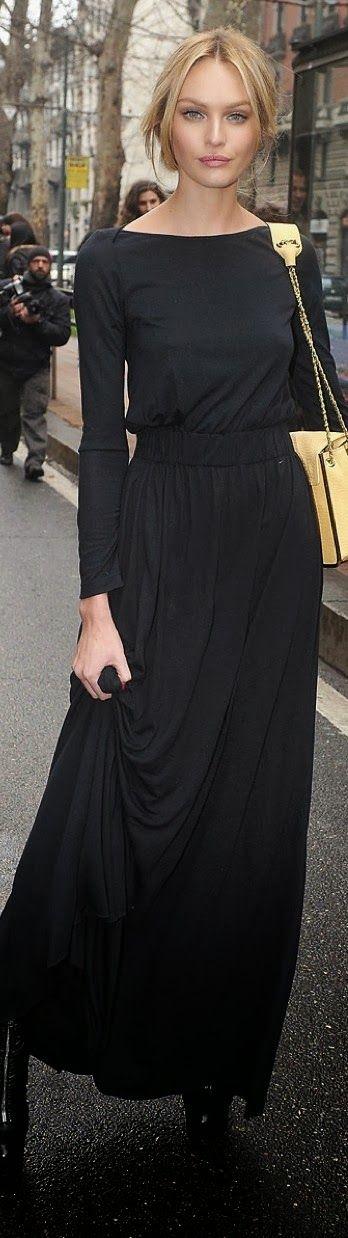 Black dress with handbag