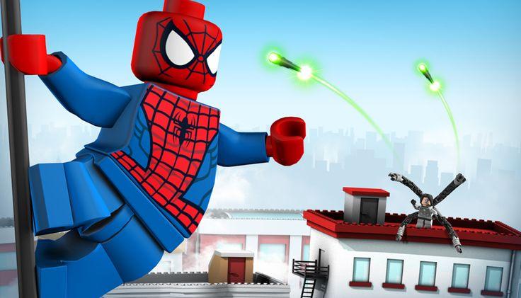 17 best images about lego superhero mural on pinterest - Spiderman batman lego ...