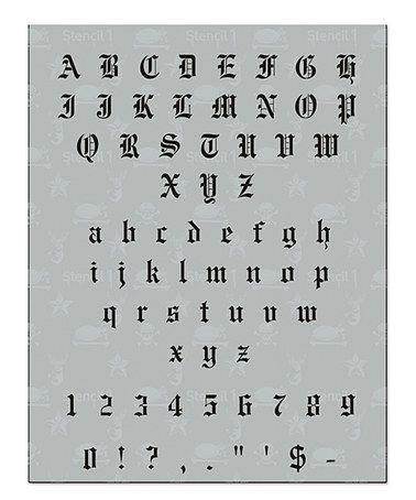 Look at this #zulilyfind! Old English Font Stencil #zulilyfinds