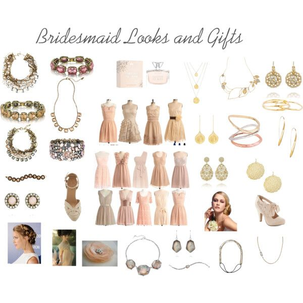 Bridesmaid Looks and Gifts-I am loving the look of neutral, beige, blush and tan bridesmaid dresses. Here are some looks that could work for your wedding, including a HUGE variety of jewelry from Chloe and Isabel! These colors are versitile and could work for a wedding in any season, plus, your girls deserve a gift that they will want to keep forever! #weddinglook #bridesmaid #bridesmaidgift #lovelyneautrals www.chloeandisabel.com/boutique/ciaosterhouse