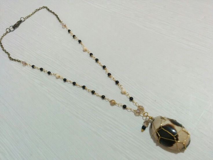 Natural Stone necklace - handcrafted