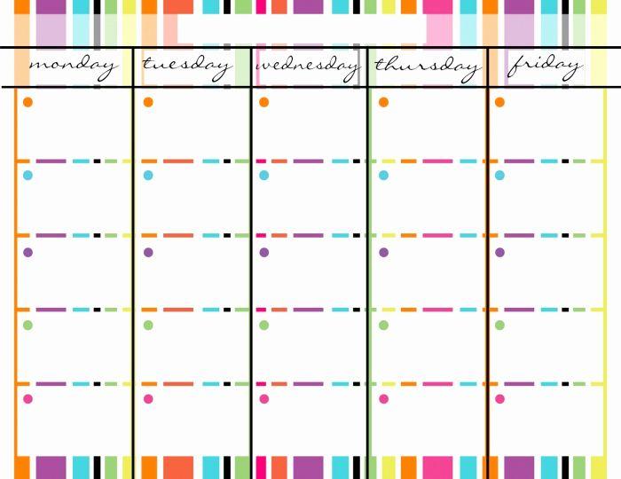 monday through friday printable calendar november monday