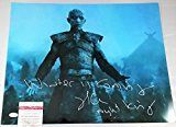 #5: Richard Brake THE NIGHT KING SIGNED Game of Thrones 1620 METALLIC PHOTO COA JSA 369