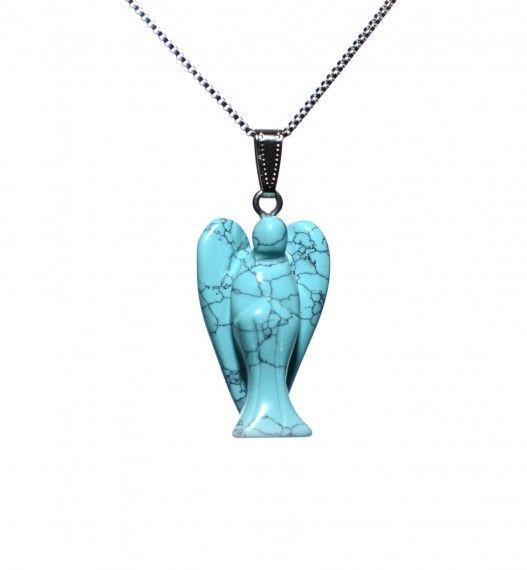 Håndlagde englesmykker i sten. www.bitteba.com