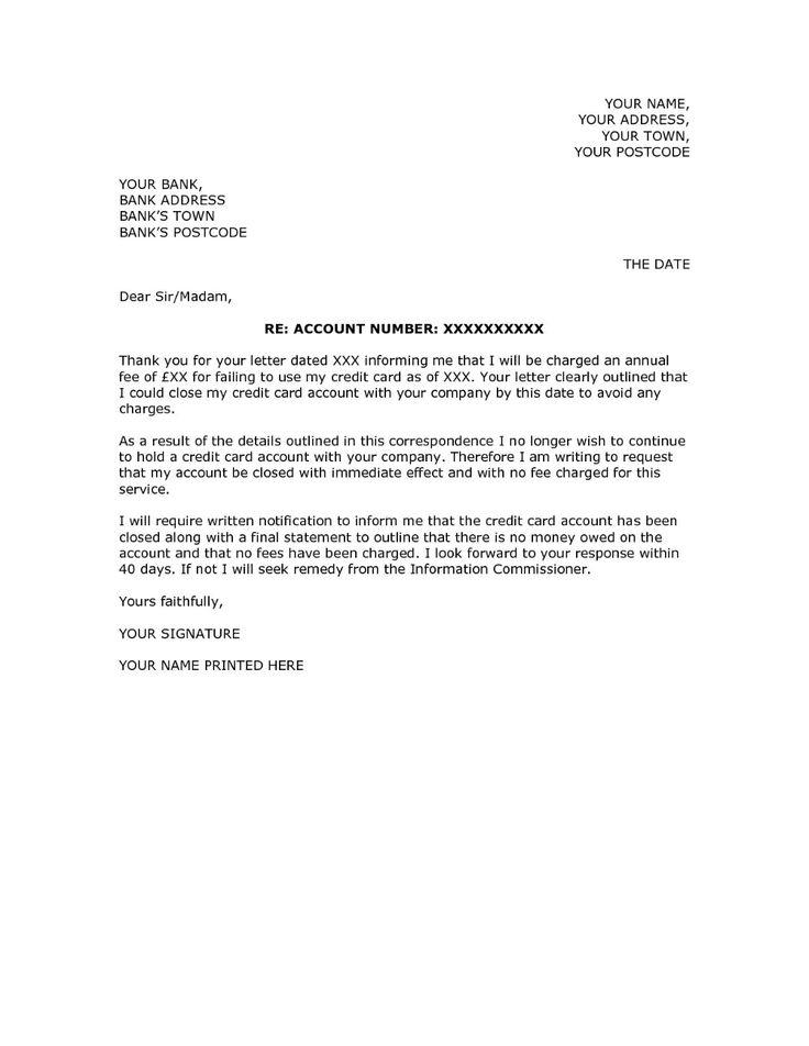 bank account closure request letter